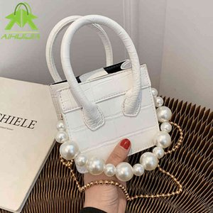 Wholesale womens designer crossbody bags for sale - Group buy Fashion Mini Pearl Design Stone Pattern Crossbody Bags For Women the New High Quality Pu Leather Womens S