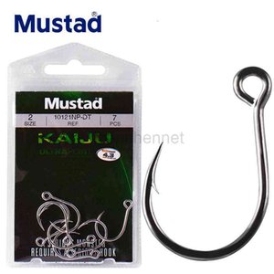 Wholesale mustad hooks resale online - 1pack KAIJU Fishing Hooks NP DT size8 size8 High Carbon Steel Barbed Jig Hook Bait Lure Sea Fish Snake Anzol From Mustad