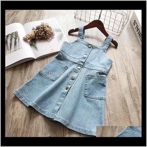 Wholesale washing baby clothes resale online - Baby Baby Maternitysummer Kids Dresses For Sleeveless Denim Wash Strap Dress Princess Clothing Girls Drop Delivery Cdbgk