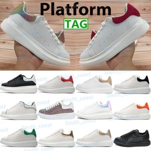 Wholesale wolf gold resale online - Platform men women casual shoes metallic gold silver triple white reflect laser black velvet upper wolf grey fashion mens sneakers outdoor rubber trainers