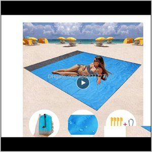 Wholesale foam beach mat resale online - Pads And Hiking Sports Outdoors Drop Delivery M Dot4M Waterproof Beach Blanket Outdoor Portable Picnic Ground Mat Mattress Camping B