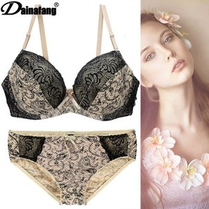 Wholesale place sets resale online - Plus Size Bra Set Printed Place Lingerie Set2r5o