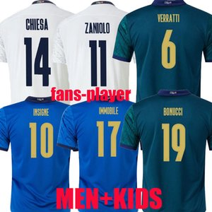 2021 2022 Italy soccer Jersey fans Player version home BELOTTI JORGINHO EL SHAARAWY INSIGNE VERRATTI BERNARDESCHI Immobile Chiesa men + kids 21 22 FOOTBALL SHIRTS