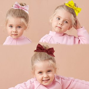 Wholesale korean red hair color resale online - Haochuan Korean version net red three dimensional children s cute bow hairpin polyester solid color hair