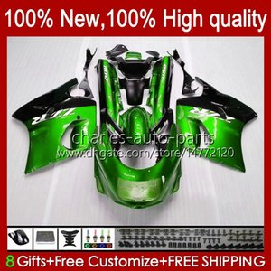 Body For KAWASAKI NINJA ZX-11 R ZZR-1100 ZX-11R ZX11R 90 91 92 93 94 95 30HC.70 metal green ZZR 1100 CC ZX 11 R 11R ZX11 R ZZR1100 1996 1997 1998 1999 2000 2001 Fairing Kit