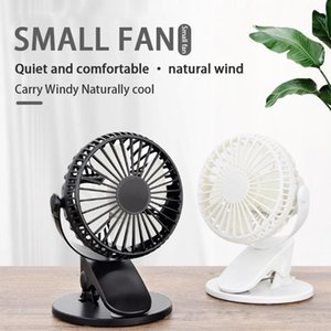 Wholesale smallest electric fans for sale - Group buy Degree Rotatable Mini Portable Fan USB Rechargeable Small Desktop Outdoor Clip Silent Battery Electric Fans