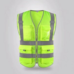 Wholesale reflective traffic for sale - Group buy Reflective vest with grey edge and multiple pockets construction safety vest sanitation new traffic regulations car clothingLRMO
