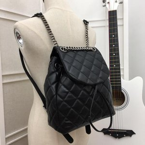 Wholesale women biking for sale - Group buy 2021 Senior Design Quality Backpack A Leather Fashion Diamond Pattern Chain Big Logo Backpacks Mountain Biking Bag Large Capacity Travel Bags Student Schoolbag