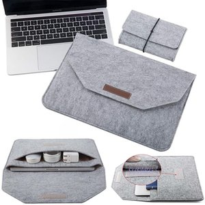 Wholesale apple macbook pro resale online - 2021 Laptop Case Sleeve Bag For Apple Macbook Air Pro HuaWei Honor MagicBook MateBook Notebook Handbags