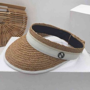 Wholesale top hat shop for sale - Group buy Summer new style cool hat female Korean version fashion sunshade outdoor shopping riding small fresh empty top straw