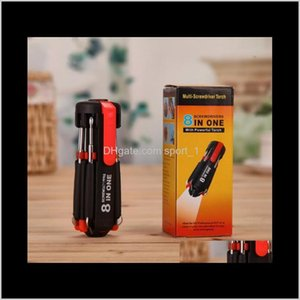 Wholesale driver ups resale online - Hand Garden Drop Delivery Multiscrewdriver In Screwdrivers With Led Powerful Torch Tools Light Up Flashlight Screw Driver Home Rep