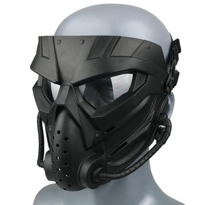Wholesale motorcycle face mask goggles resale online - Full Face Motorbike Bike Motorcycle Riding Helmet Mask Goggles Protective Windproof Open Headwear Helmets