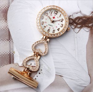 Wholesale nurses watch diamond for sale - Group buy 2020 new nurse movement ceramic pocket watch with diamond gift WatchPOG0