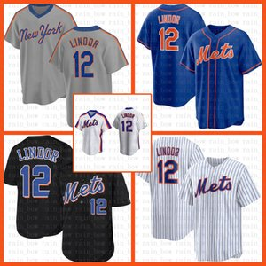 orange 18 jersey großhandel-Neue Baseball Jersey York York Met Custom Francisco Lindor Pete Alonso Jacob Degrom Darryl Strawberry Mike Piazza Gooden Orange
