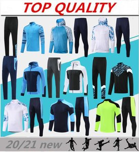 voll jersey großhandel-2021 Hooded Football Jacke Fussball Jersey Maillot de Foot Payet Balotelli Thauvin Full Zipper Trainingsanzug