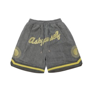 Wholesale used military for sale - Group buy Cashew Embroidery Wash Used Military Drawstring Shorts