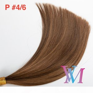 Wholesale mixed russian hair extension for sale - Group buy Piano Color Hand Tied Hair Weft Single Drawn Silk Straight Soft Natural Blonde Brown Mix Color Virgin Remy Human Hair Extension