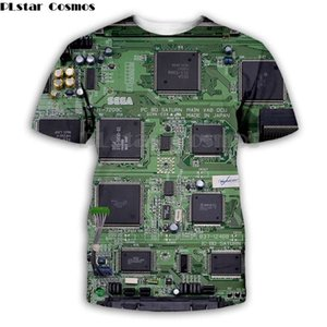 Wholesale chip electronics resale online - Mens T Shirts Cosmos Electronic chip Hip Hop tshirt Men d Full print t shirts Summer short sleeve tee Harajuku Punk Styl Women Unisex