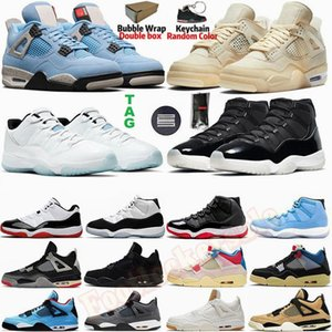 Mens Basketball Shoes University Blue Legend 4 White Sail Bred Jumpman 4s Sneakers 11 11s Concord 45 25th Anniversary Womens Sports Trainers Withbox