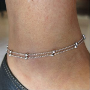 Wholesale anklets bracelet for sale - Group buy Simple Woman Anklets Casual Sporty Gold Silver Color Chain Women Ankle Bracelet Jewelry T200714 Q2