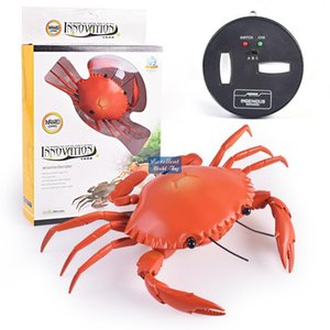 Wholesale crab toys resale online - Wireless Infrared Remote Control Crab Electric Kid Toy RC Animals Prank Joke Trickery Creative Christmas Birthday Boy Gift