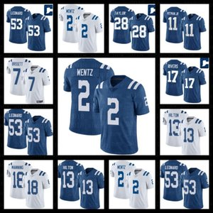 potros de futebol venda por atacado-2 Carson Wentz Jonathan Taylor Jerseys Indianapolis