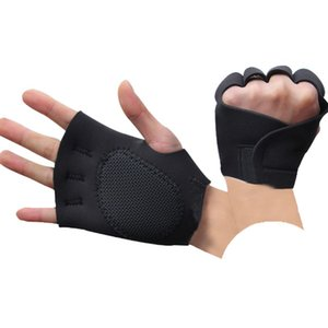 Wholesale rock cycling resale online - Fitness Half Finger Gloves Gym Cycling Rock Climbing Badminton Fishing Spring Summer Thin Breathable Sports Gloves