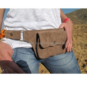 Wholesale festival belts resale online - Hip Handmade Suede Waist Pack Bag Party Festival Style Belt Utility Pouch Playa psy trance rave