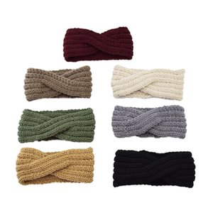 Wholesale accessories crochet for sale - Group buy Newest Girls Knitted Headbands Turban Crochet Twist Headwear Winter Ear Warmer Headwrap Elastic Hair Band Women Hair Accessories Z2