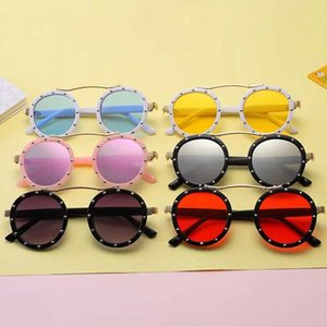 Wholesale steampunk eyeglasses resale online - Fashion Steampunk Kids Children Sunglasses Retro Round Sun Glasses for Boys Girls Brand Circle Glasses Eyeglasses X2