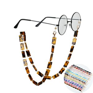 Wholesale party supplies glasses resale online - Party Gifts Fashion Leopard Acrylic Glasses Chains Women Wide Sunglasses Lanyards Reading Glass Hanging Neck Chain Eyewear Anti loss Face Mask Straps Colors