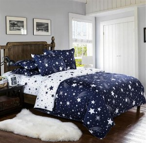 Wholesale queen size bedding sets for kids for sale - Group buy Starry Sky Bed Linens Star Bedding Sets Gift For Kids Boys Bedclothes Family Duvet Cover Set Quilt Black Queen King Size