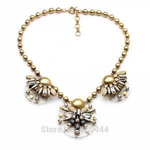 Wholesale gold chain pendant design latest for sale - Group buy Short Design Latest Fashion Cost Effective Resin Pendants Necklaces Gold Color Ball Chain Necklace Chokers