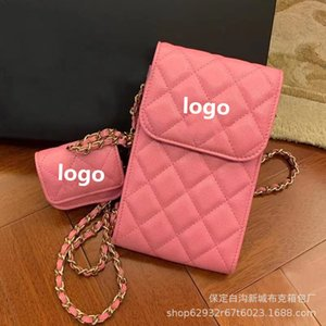 Wholesale mobile phone s for sale - Group buy Xiaoxiangfeng Lingge headset mobile phone twin bag chain Single Shoulder Messenger Bag Small spring and s