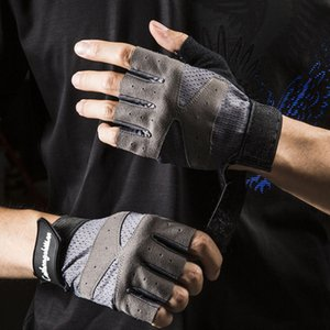 Wholesale iron gloves resale online - Fitness Half Finger Gloves Adult Children s iron rolling sports outdoor riding anti slip wear resistant breathable mesh