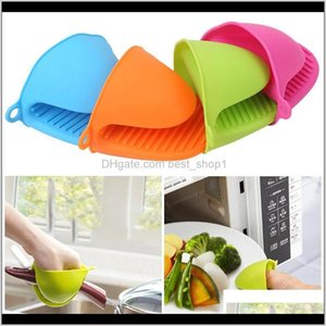 Wholesale ove gloves resale online - Bakeware Kitchen Dining Bar Home Garden Drop Delivery Sile Antiscalding Mitts Potholder Kitchen Bbq Gloves Tray Pot Dish Bowl Holder Ove