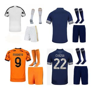 Wholesale custom kids shirts resale online - 21 Men kids kit Soccer Jerseys Home away RD adult child set Maillot de foot custom name number football shirt short