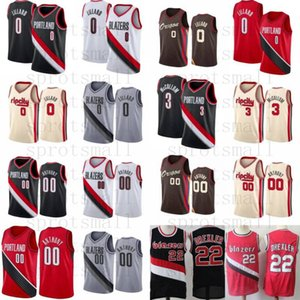 clyde al por mayor-Clyde Drexler Carmelo Anthony Basketball Jersey Mens Damian Lillard CJ McCollum City Shirt