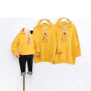 Wholesale parent child clothing resale online - Designer Parent child Hoodies Luxury Pattern Girls Sweatshirt Boys Brand Family Party Game Wearing Kids Clothes for New V2