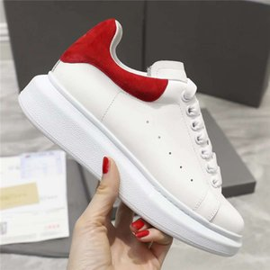 Wholesale girls' fall dress resale online - Mens Fashion White Leather Dress Casual Shoes For Women Girl Black Gold Red Flat Heels Bottoms Sports Sneakers And Box Luxurys Designers Loafers