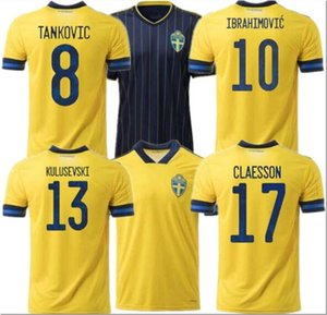 Sweden National soccer jerseys IBRAHIMOVIC KALLSTROM FORSBERG Adult football shirt