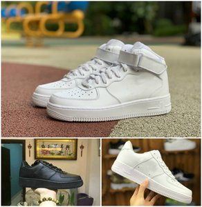 2021 Forces Men Low Running Skateboard Shoes Cheap One 1 07 3 Utility Unisex Knit Euro Air High Women All White Black Red Wheat AF Fly Sports Trainer Sneakers