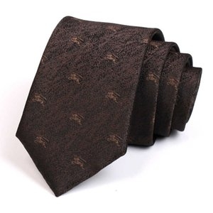 Wholesale brown suits tie resale online - 7cm Brown Tie Gentleman Animal Jacquard s High Quality Fashion Formal for Men Business Suit Work Necktie with Gift Box