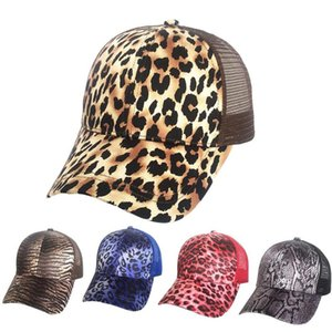 Wholesale snapped back hats for sale - Group buy Mesh Leopard Baseball Cap For Women Hat Snap Back Summer Casual Girls Hip Hop Sport Female Hats Sun Visors