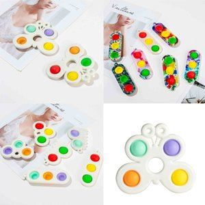spielzeug großhandel-Push Finger Bubble Poppers Sensory Spielzeug Keychain FILL Simple Dimple Toys Keychain Ampel Dekompression Schlüssel Ring H H48Y18K