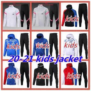 ingrosso tute da bambini nero-2020 PSG Paris saint germain MBAPPE Soccer Jacket Survetement Training Suit PSG Hoodie Jacket per bambini Giacca a jogging