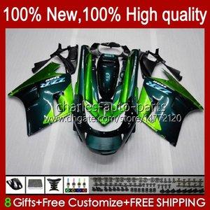 Body For KAWASAKI NINJA ZX-11 R ZZR-1100 ZX-11R ZX11R green stock 90 91 92 93 94 95 30HC.13 ZZR 1100 CC ZX 11 R 11R ZX11 R ZZR1100 1996 1997 1998 1999 2000 2001 Fairing Kit