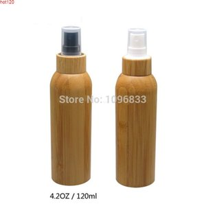 Wholesale spray toner resale online - 120ml oz High Grade Natural Bamboo Cosmetic Toner Lotion Bottle Handmade PET Spray Nozzle Refillable Containergoods