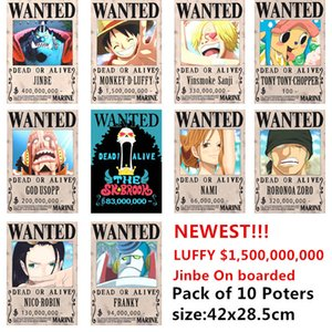 Wholesale one piece usopp resale online - yutong ONE PIECE Wanted Posters Newest Anime Poster ONEPIECE Luffy Ace Jinbe Nami Chopper Robin Zoro Sanji Usopp Franky Toys