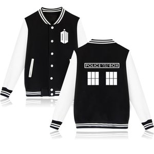 Wholesale doctor s resale online - Hoodie Colors Women Men Doctor Who Baseball Jacket Coat Bad Wolf Tardis Sweatshirt for Police Box Jackets s xl